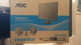 aoc m2060swd 1080p monitor unboxing