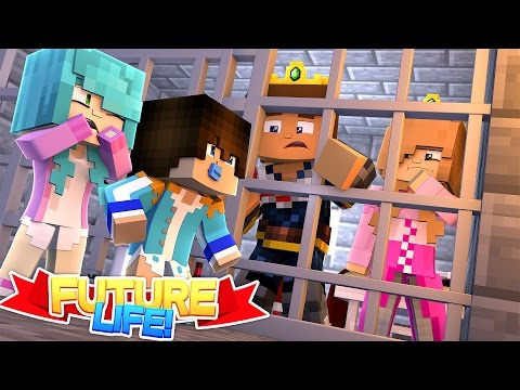 Minecraft FUTURE LIFE: LITTLE KELLY & DONNY LOCKED UP IN PRISON, CAN THEIR BABIES HELP THEM ESCAPE??