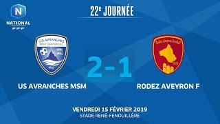 J22 : US Avranches MSM – Rodez Aveyron F (2‐1), le résumé