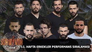 11. Hafta Erkekler performans sıralaması | 53. Bölüm | Survivor 2018