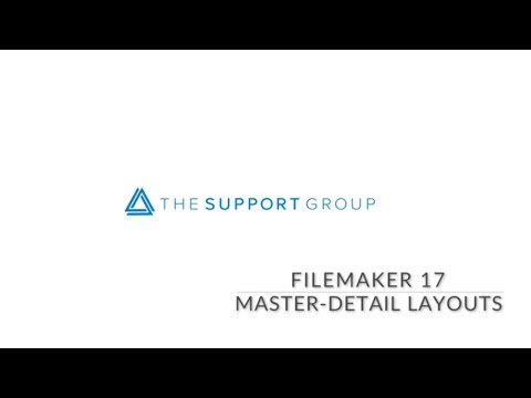 FileMaker 17 Master Detail Layouts
