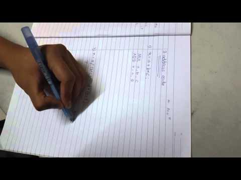 Chapter 3 (3 ADDRESS INSTRUCTION)