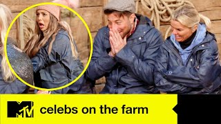 Duncan Gets Emotional As He Learns How To Deliver A Calf | Celebs On The Farm