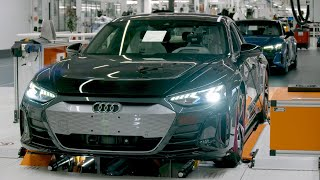 Audi e-tron GT 2021 - PRODUCTION PLANT in Germany (This is how it's made)
