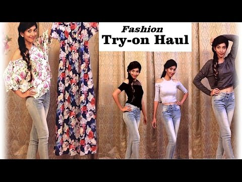 INdian Youtuber - Spring FASHION Try-on Haul - Vero Moda, Kazo, Forever New