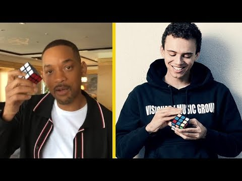 Will Smith Shows Logic Whose The REAL KING Of The Rubix Cube!