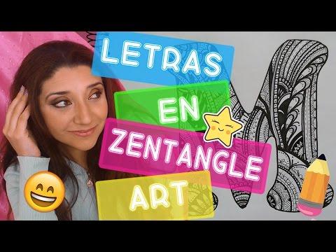 LETRAS EN ZENTANGLE ART - Paito