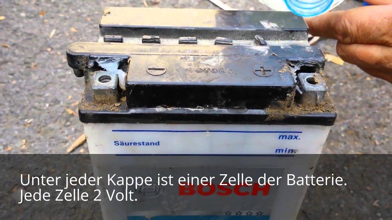 autobatterie wasser