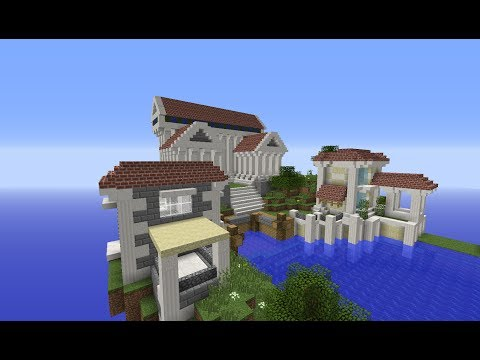 Minecraft Greek Houses and City: Building with Optical Creeper Episode 3