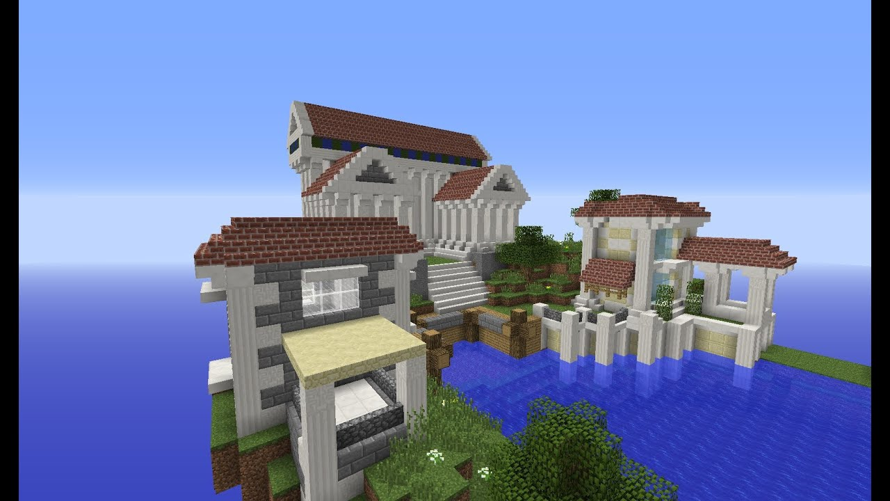 Greek Architecture Minecraft minecraft greek houses and city: building with optical creeper