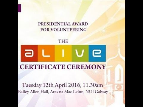 ALIVE NUI Galway Student Volunteering Programme Awards