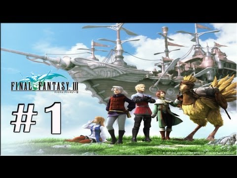 "Final Fantasy III PSP - Walkthrough P.1 - ""Opening"" -Altar Cave The Beginning -BOSS: *Land Turtle*"