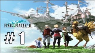 "Final Fantasy III (PSP) - Walkthrough P.1 - ""Opening"" -Altar Cave The Beginning -BOSS: *Land Turtle*"