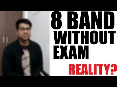 8 band in IELTS without written exam? || Registered IELTS exam