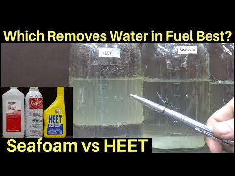 Is HEET better than Seafoam for Water in Fuel?  Let's find out!