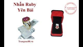 Nhẫn Vàng 10k Nữ Gắn Đá Ruby Tự Nhiên Yên Bái Đỏ Hồng