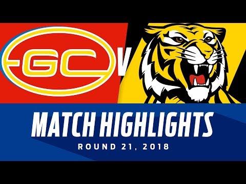 Gold Coast v Richmond Highlights | Round 21, 2018 | AFL