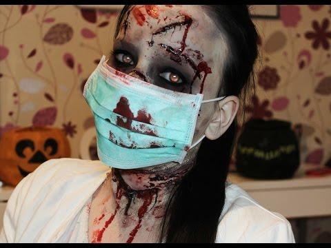 foto de Zombie Nurse/Patient Makeup Tutorial ~ HALLOWEEN 2015 YouTube