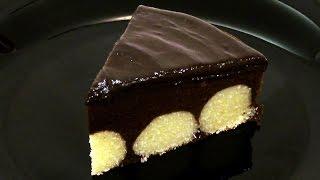 Шоколадный пирог с творожными шариками. Подробный рецепт