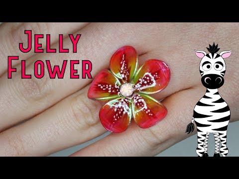 3D Jelly Flower Ring Gel Nail Art Tutorial thumbnail