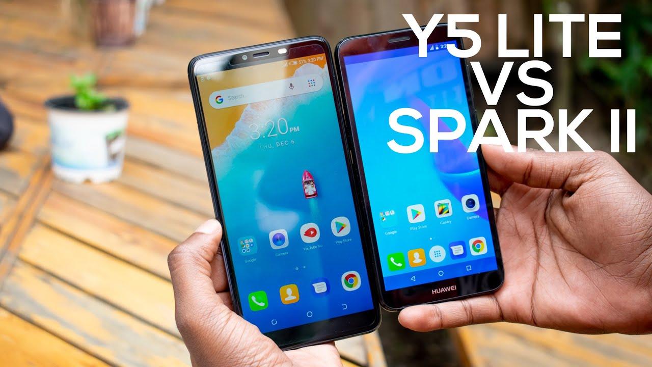 Huawei Y5 Lite vs TECNO Spark 2 (Video)