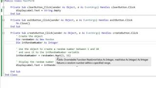 Generating a Random Number in Visual Basic