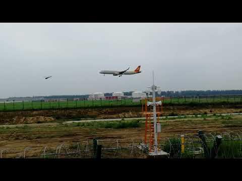 Capital Airlines JD5795 Land at RWY 23, Taiping Airport, Harbin
