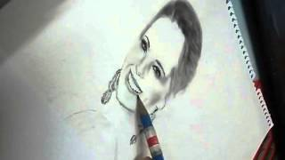 4th impact mentor Cheryl Cole speed drawing Sound of the Underground