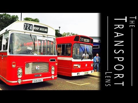 Buses at the Fathers Day Bus Rally in Durham - June 2018