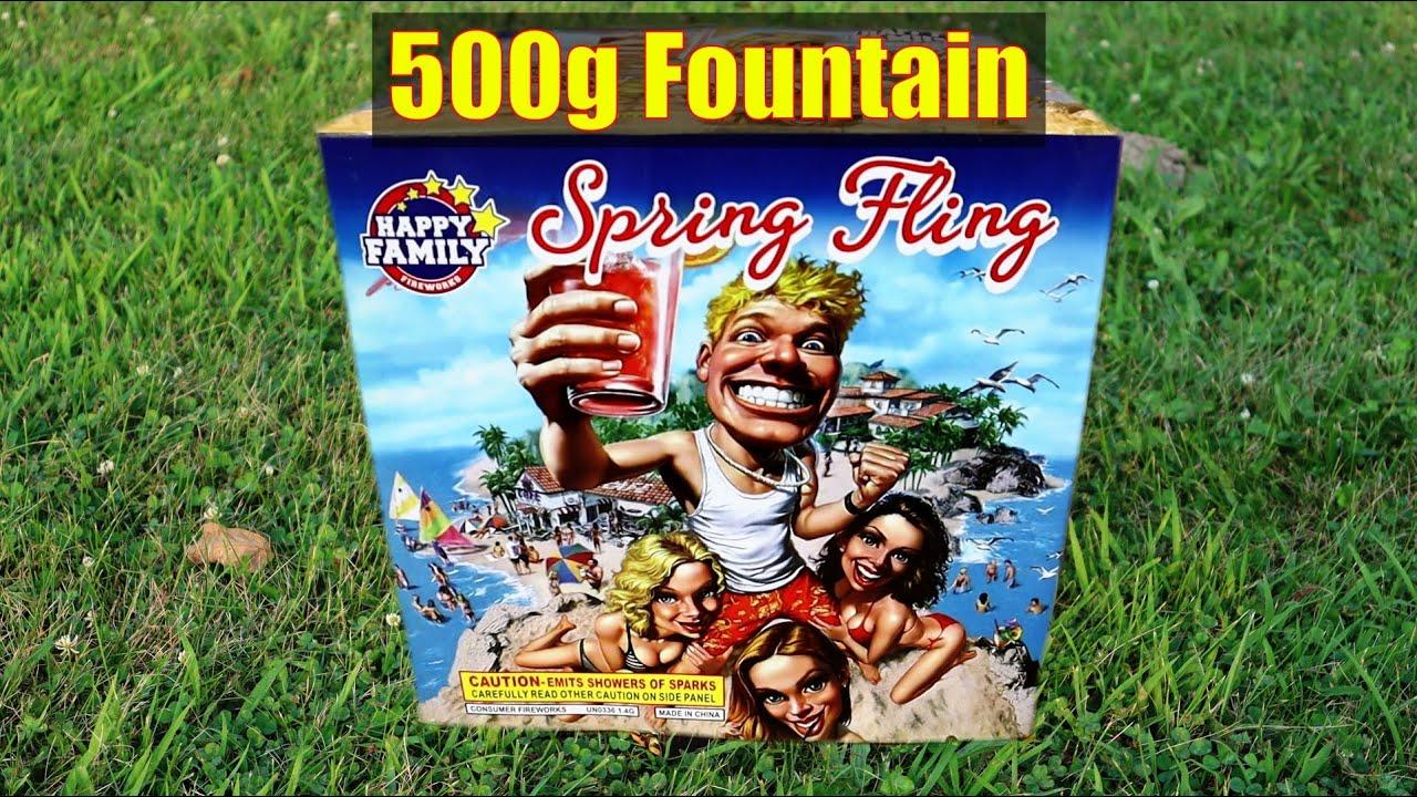 Spring Fling - 500g Fountain - Happy Family