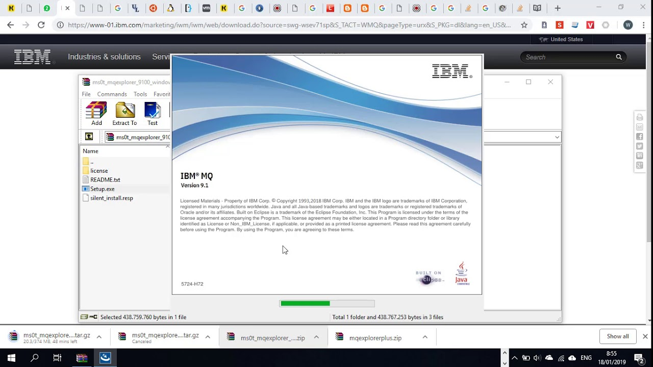 How to download and install IBM Websphere MQ Explorer