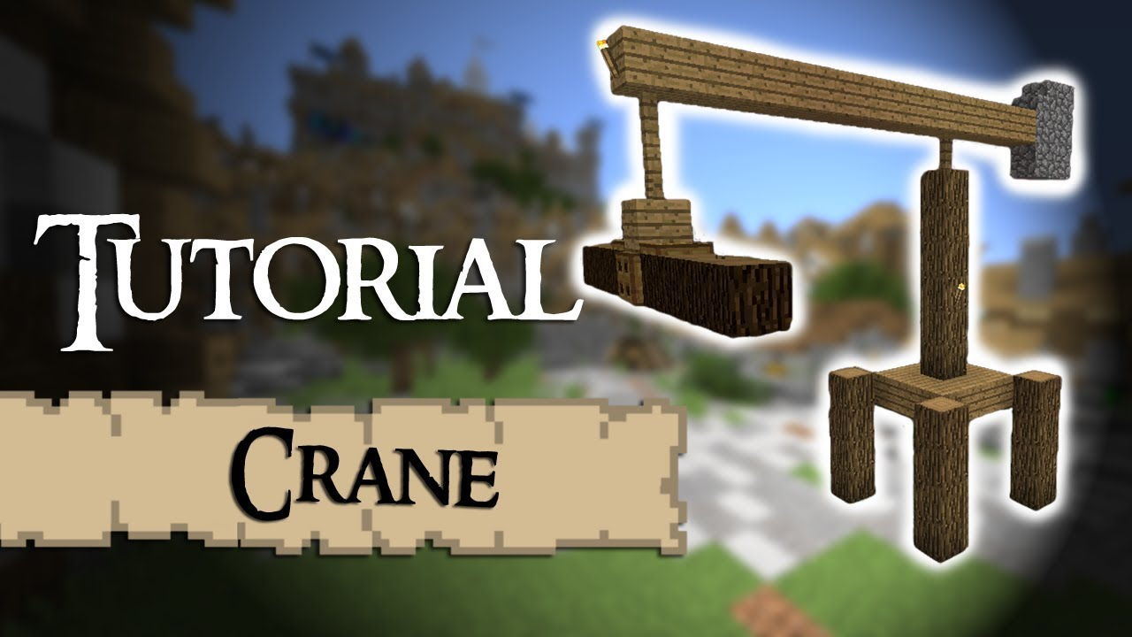 Minecraft Tutorial How To Build A Medieval Crane Youtube