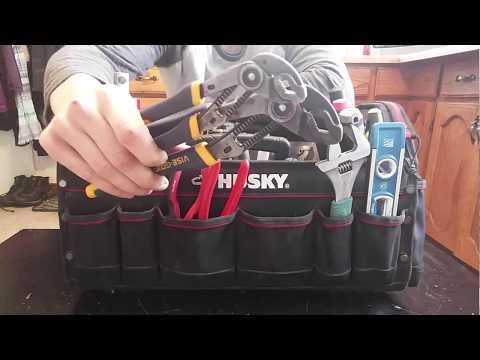"""Plumbing Tool Bag Tour - Husky 20"""" Pro Tool Bag"""