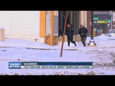 Cold weather helps Warren police end barricaded situation