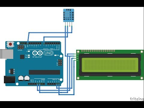 Experiment 3 - How To Interface DHT11 And 12C LCD Display  To Arduino Uno