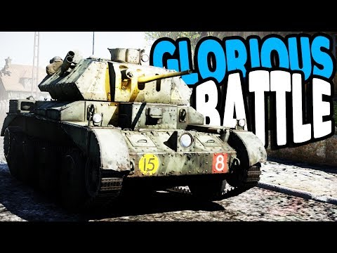 WWII Allied TANK ARMY & Armored Battles   War Thunder Multiplayer Gameplay