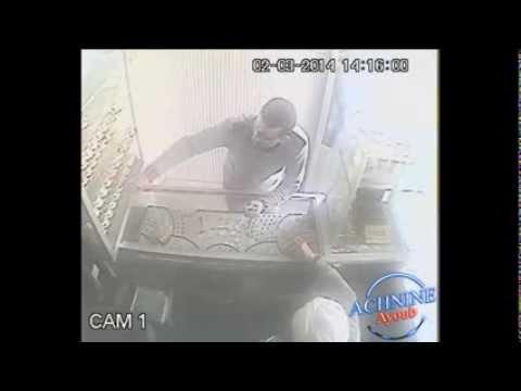 كاميرا مراقبة بكلميم ترصد سرقة محل مجوهرات بطريقة لا تخطر على البال وفي وضح النهار