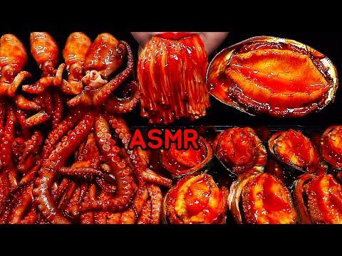 ASMR *RECIPE मसालेदार समुद्री भोजन ऑक्टोपस GURITA SEAFOOD PEDAS SPICY SEAFOOD OCTOPUS ABALONE 문어 전복