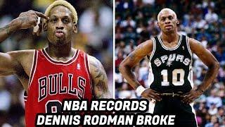 NBA Records DENNIS RODMAN Has Broken! Rebounding Machine!