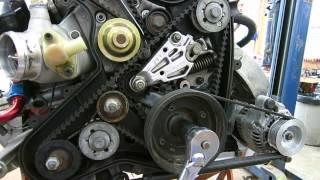 Closeup look at a 944 engine