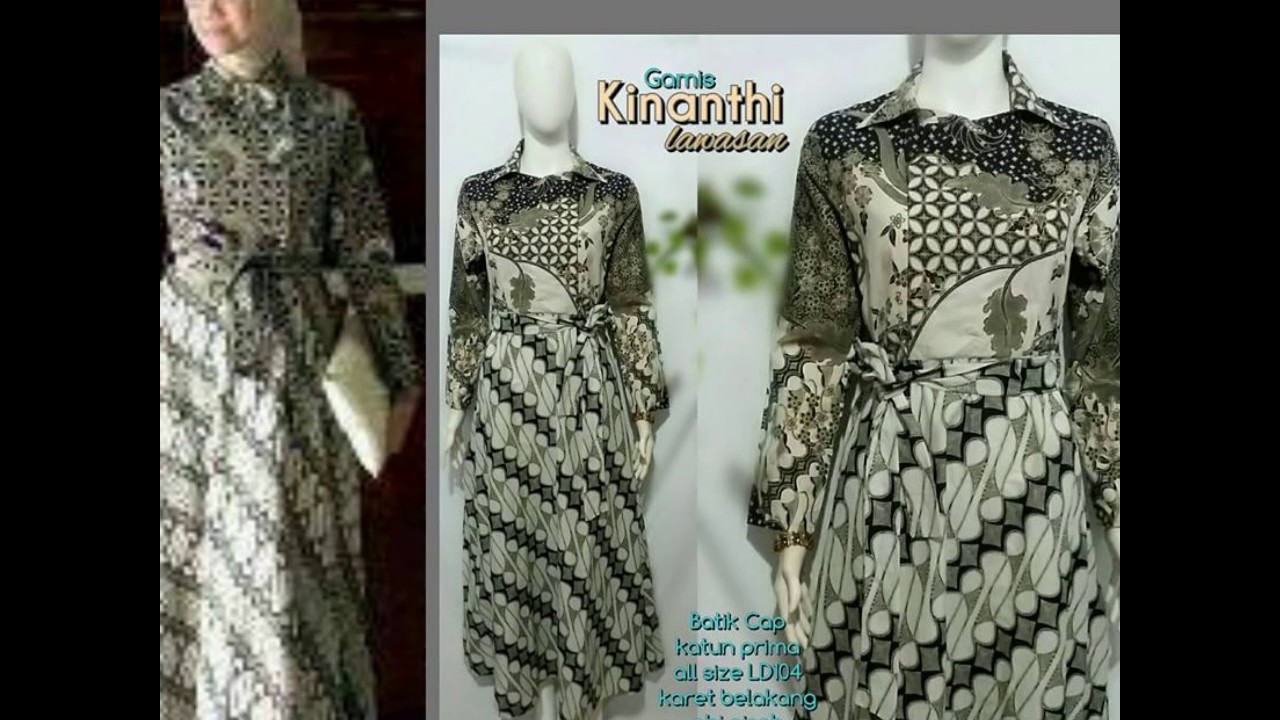 WA 0878 3609 2333 Model Baju Batik Muslim 2015 Gamis