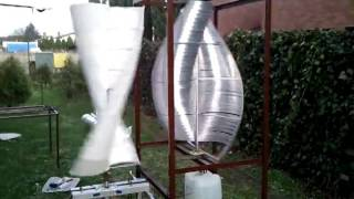 Turbina wiatrowa aluminiowa  wiatrak savonius swiderkowy ekoroman