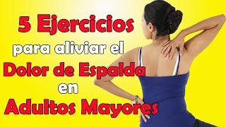 5 ejercicios para Aliviar el DOLOR de ESPALDA en Adultos Mayores