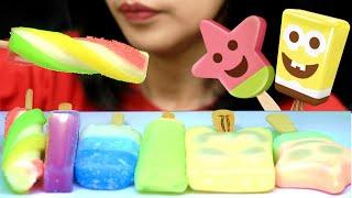 Asmr Rainbow Ice Cream Sponge Bob Patrick Doraemon Milk Melon Bluebarry Yoghurt Fruit Twister