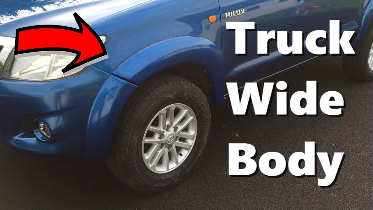How to fit wide body kit to your Pick up Truck !! Diy