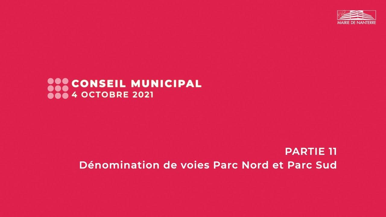 Conseil municipal du 4 octobre 2021 - PARTIE 11