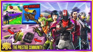 NEW *LEAKED* DRIVABLE VEHICLES, EPIC & LEGENDARY SKINS, ITEMS! (3.2 Update?!) Fortnite Battle Royale