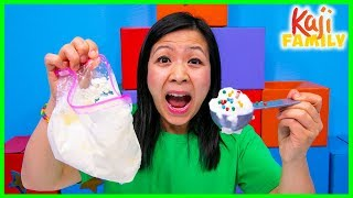 How to make DIY Homemade Ice Cream in a bag Science Experiment!