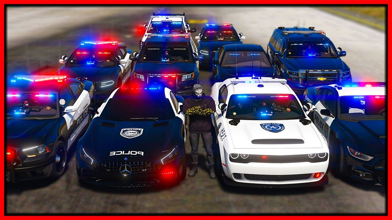 GTA 5 Roleplay - STEALING 10 COP CARS   RedlineRP - download from YouTube for free