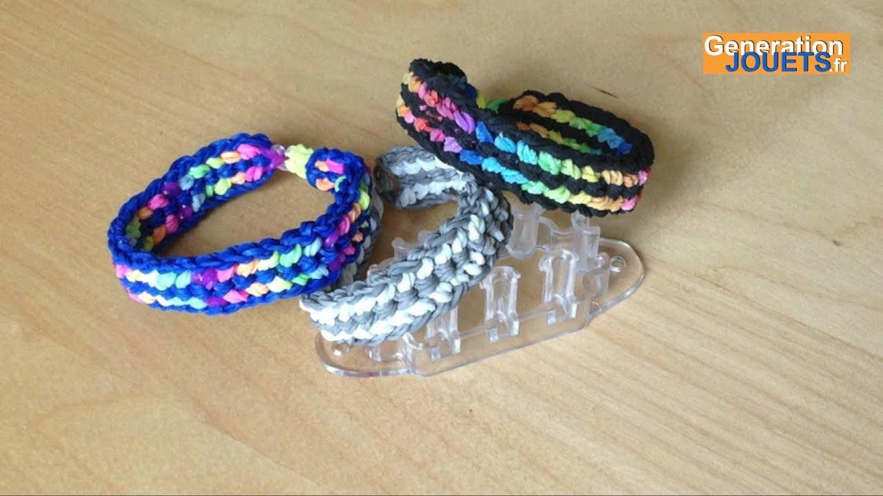cr er un bracelet tress en lastiques avec monster tail rainbow loom youtube. Black Bedroom Furniture Sets. Home Design Ideas